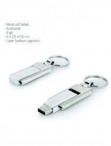 Metal Anahtarlık USB Bellek NR1623